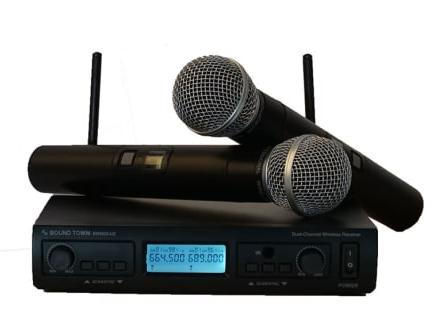 sound town professional dual channel uhf handheld wireless microphone system launched on amazon. Black Bedroom Furniture Sets. Home Design Ideas