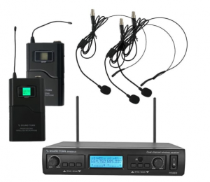 professional dual channel uhf handheld wireless microphone system headlineplus press release. Black Bedroom Furniture Sets. Home Design Ideas