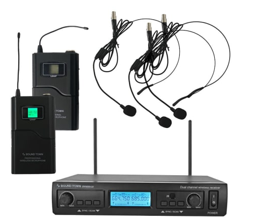 Sound Town Professional Dual-Channel UHF Handheld Wireless Microphone System