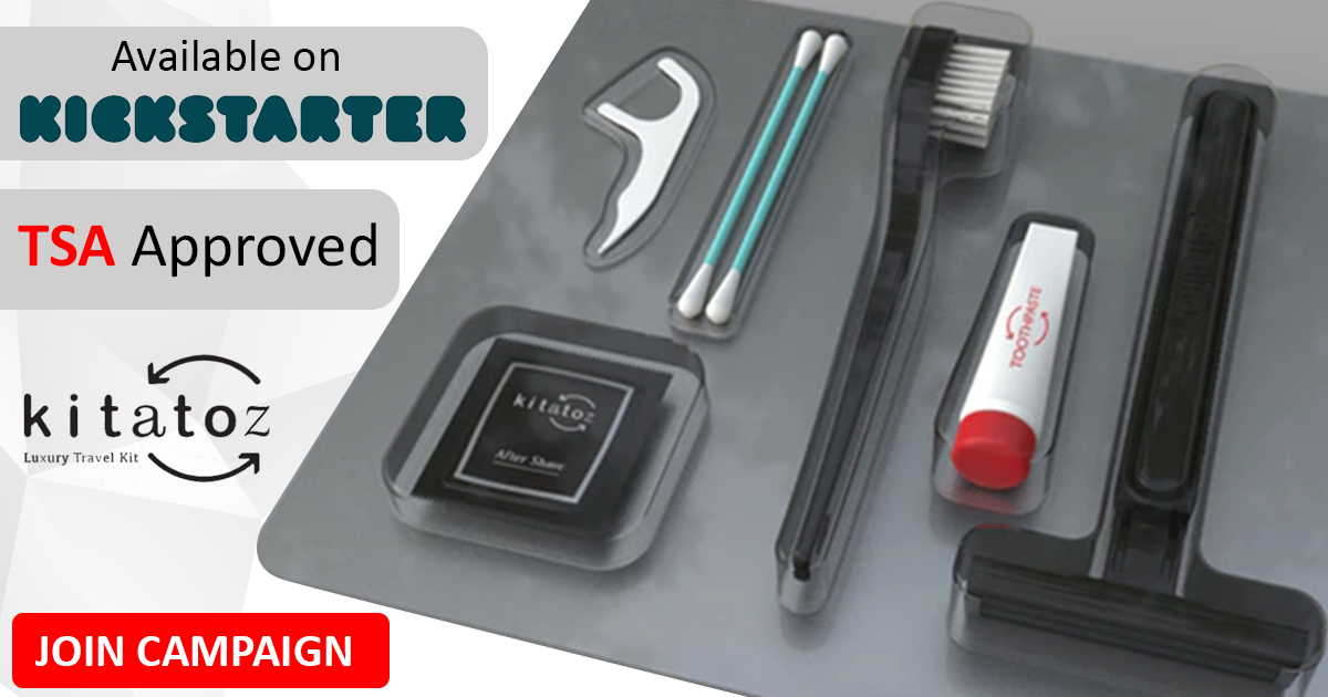 Toiletry Kit Available On Crowdfunding Platform