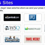 Online press release distribution