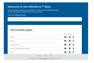 Five Blocks Announces The Launch of WikiAlerts