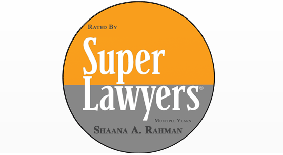 San Francisco Personal Injury Attorney Shaana Rahman Named a 2018 Northern California Super Lawyer