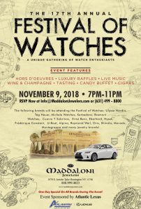 FESTIVAL OF WATCHES IN LONG ISLAND NEW YORK