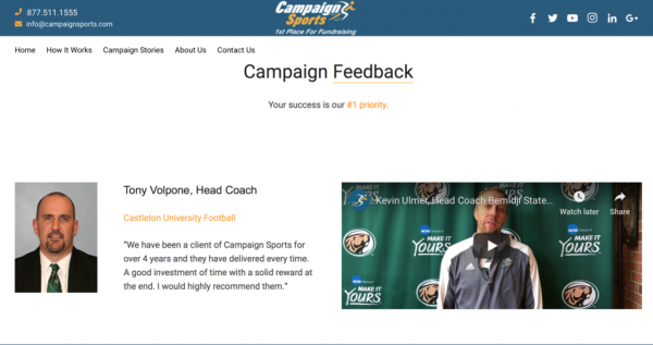 campaign sports social funding