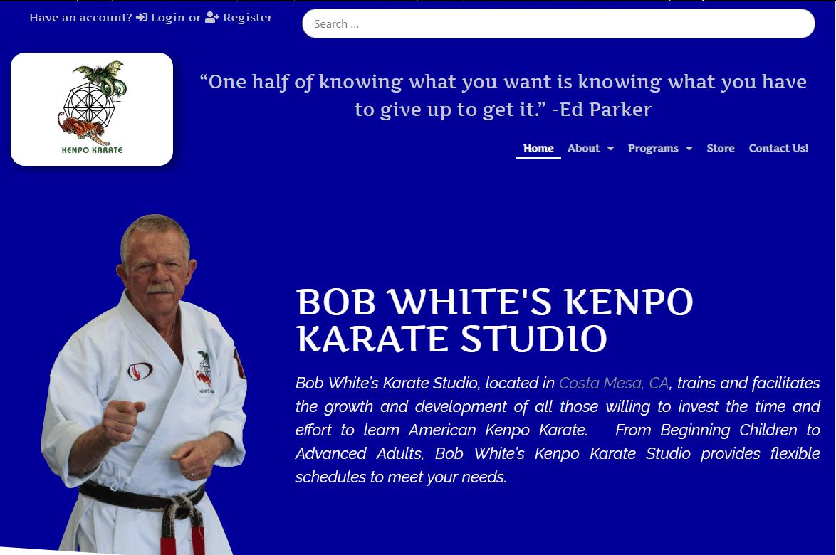 Senior Master of the Arts Bob White
