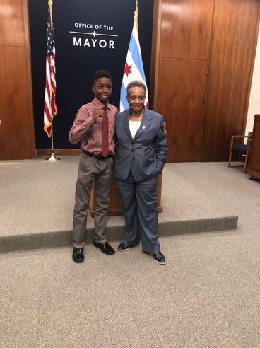 Joseph Awinongya Jr Meets With Chicago Mayor Lori Lightfoot